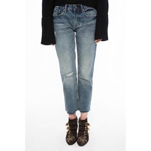 AllSaints Women's Blue 'serene' Cropped Jeans